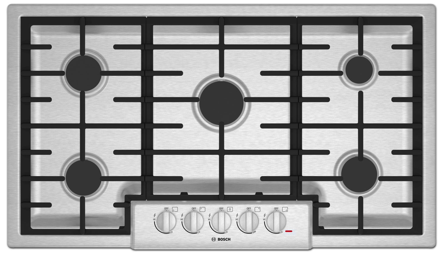 "Bosch 800 Series 36"" 5-Burner Gas Cooktop – NGM8655UC"