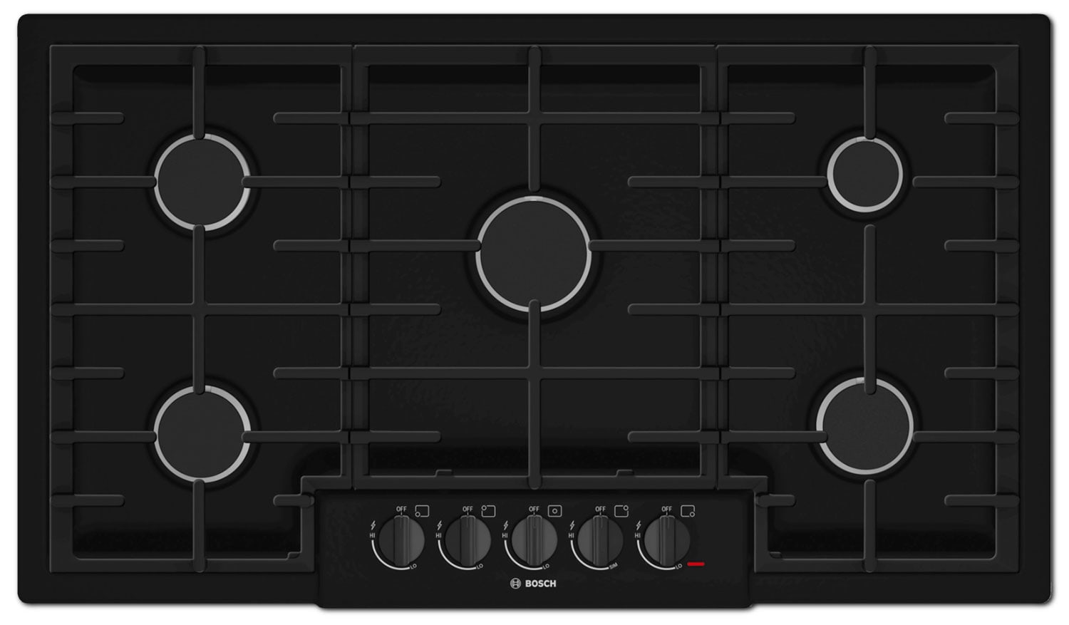 "Bosch 800 Series 36"" 5-Burner Gas Cooktop – NGM8665UC"