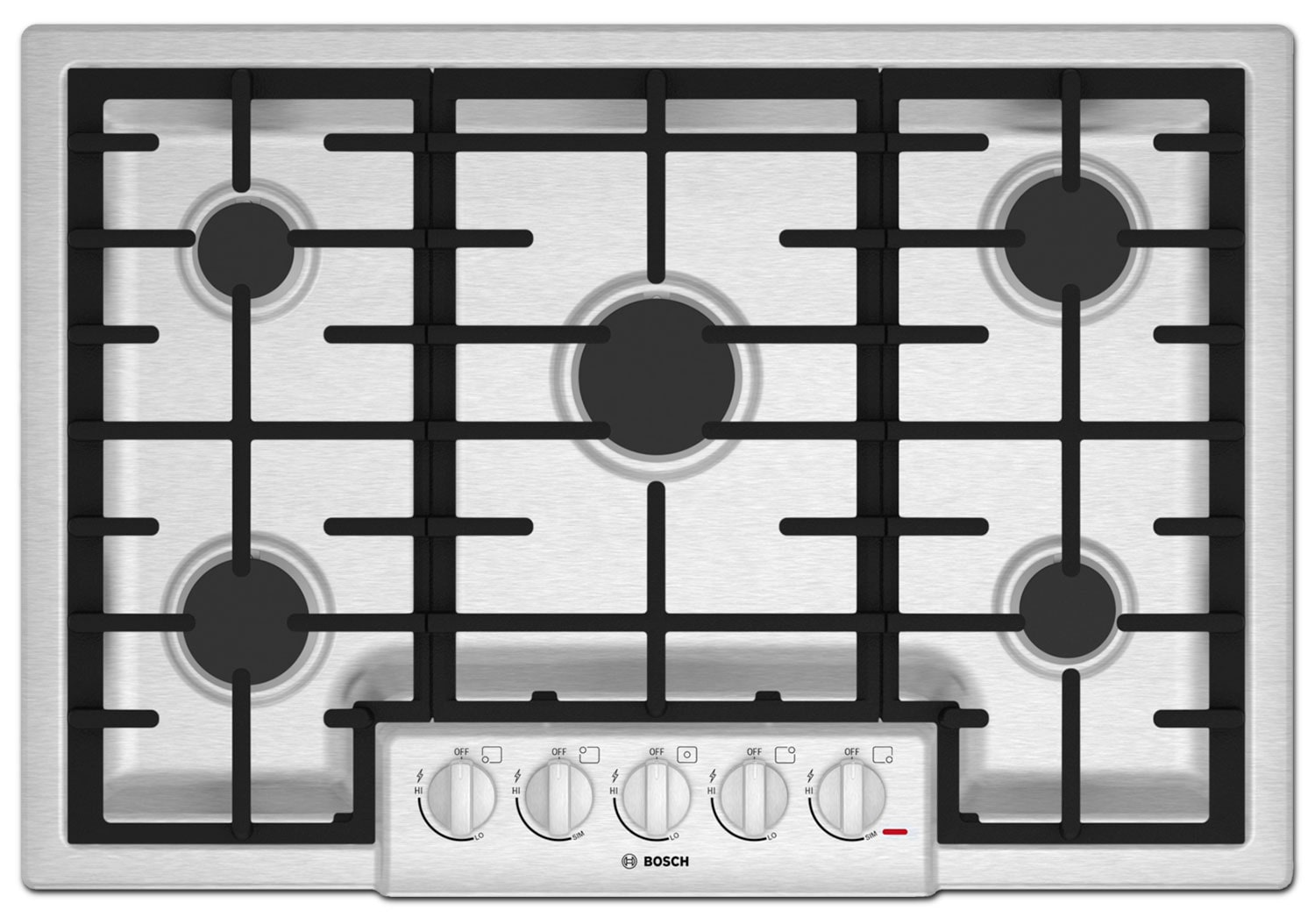 Cooking Products - Bosch Stainless Steel Gas Cooktop - NGM8055UC