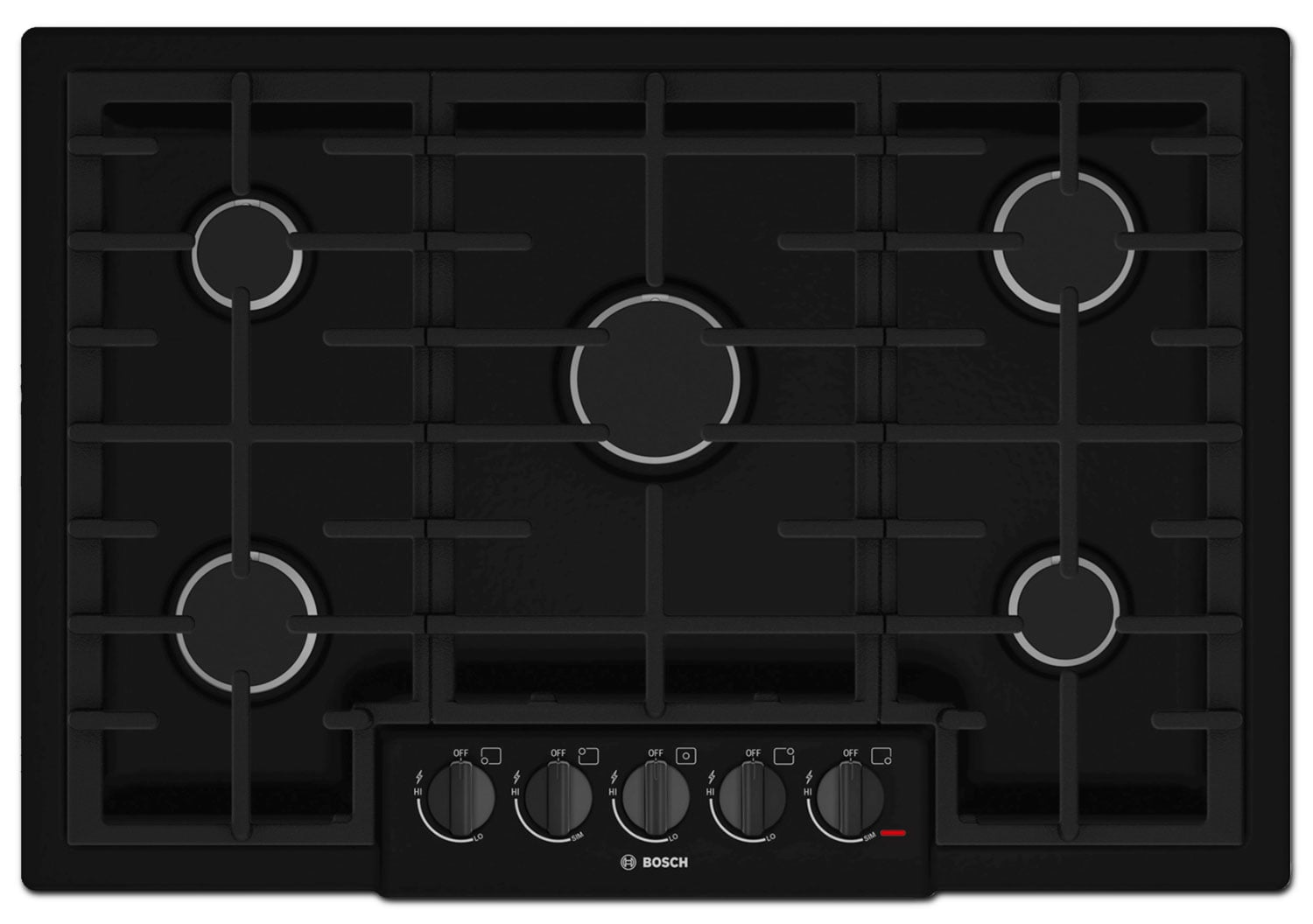 "Cooking Products - Bosch 800 Series 30"" 5-Burner Gas Cooktop – NGM8065UC"