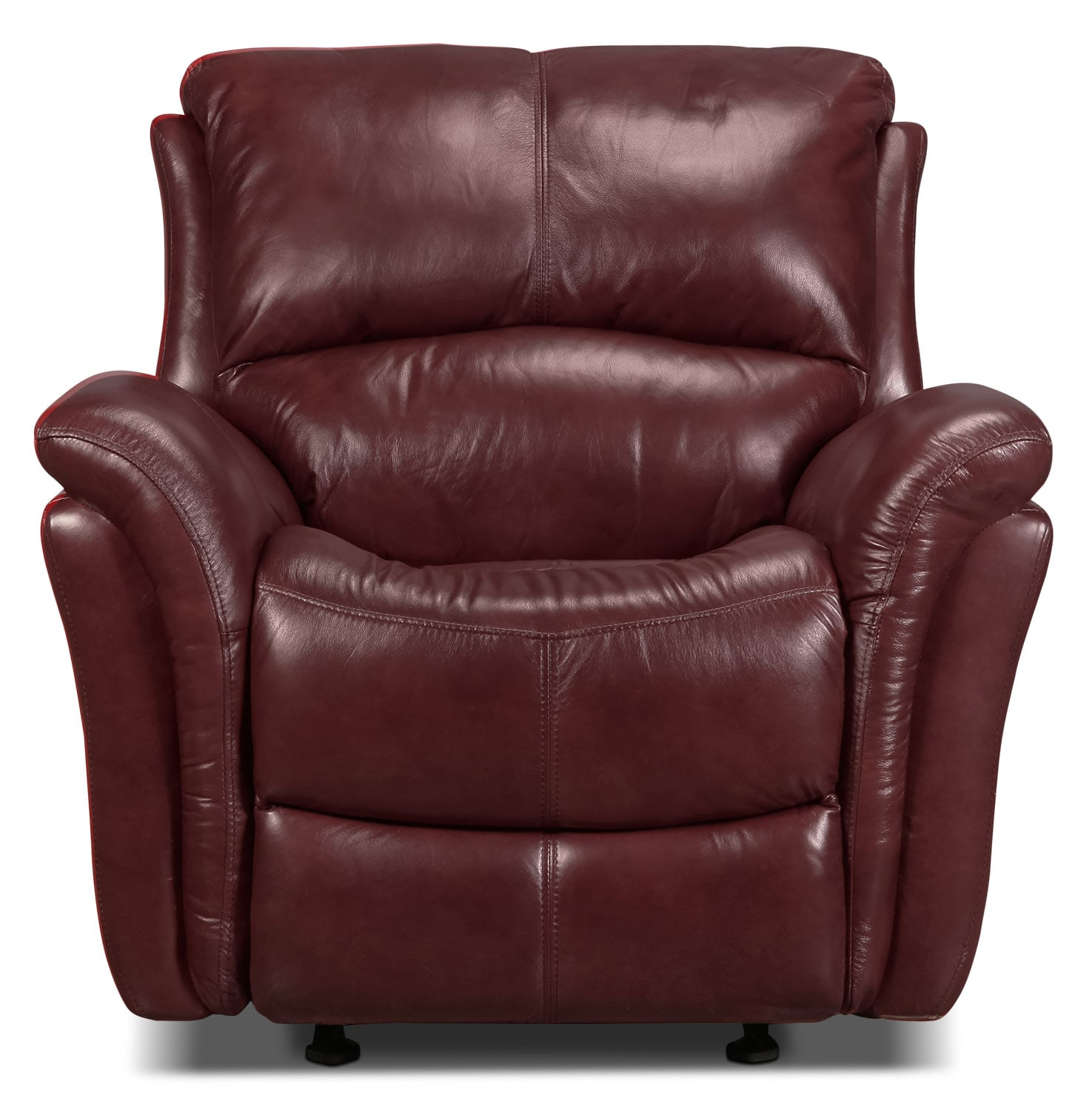 Living Room Furniture - Griffin Power Recliner - Red