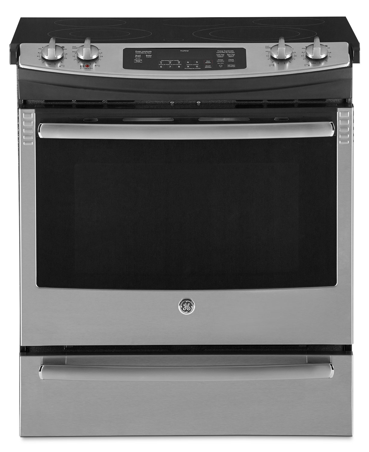 Cooking Products - GE Slide-In Electric Range JCS630SFSS