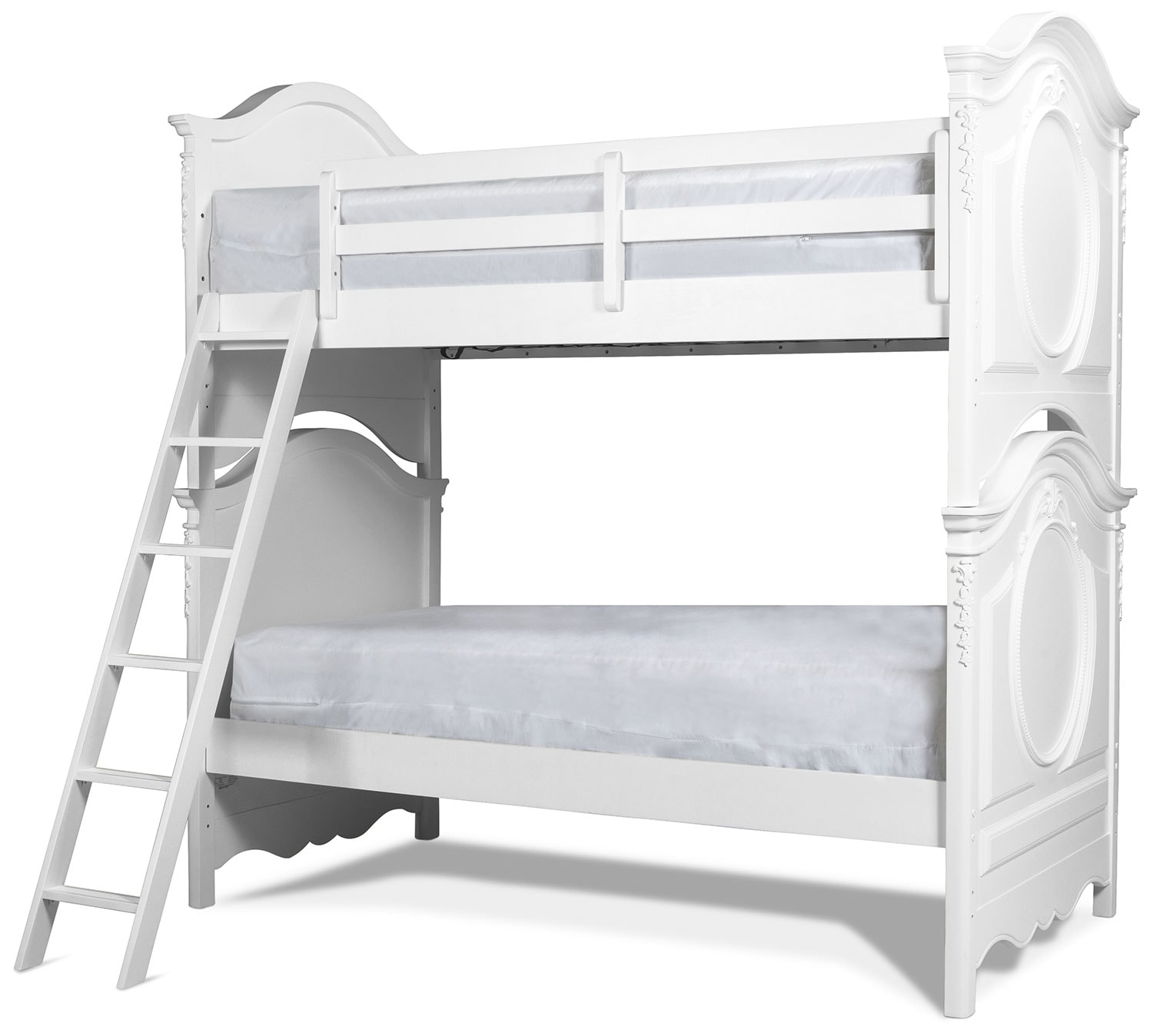 Ava Twin over Twin Bunk Bed - White