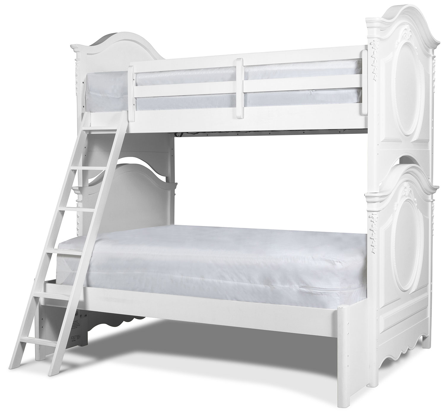 Ava Twin over Full Bunk Bed - White