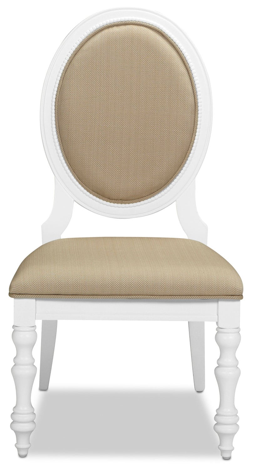 Ava Chair - White and Tan
