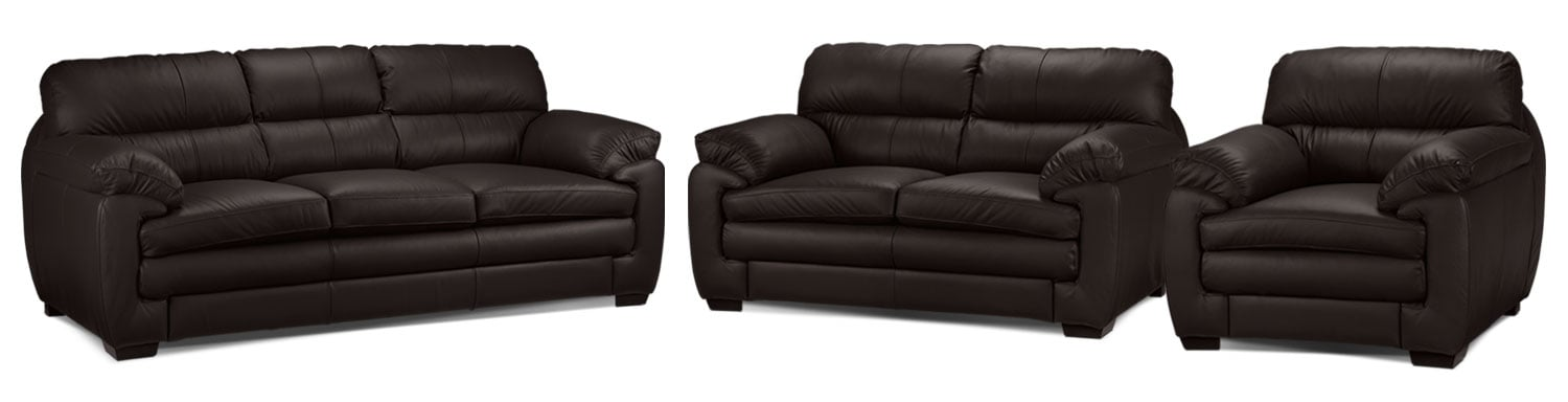 Cambria Sofa, Loveseat and Chair Set - Coffee