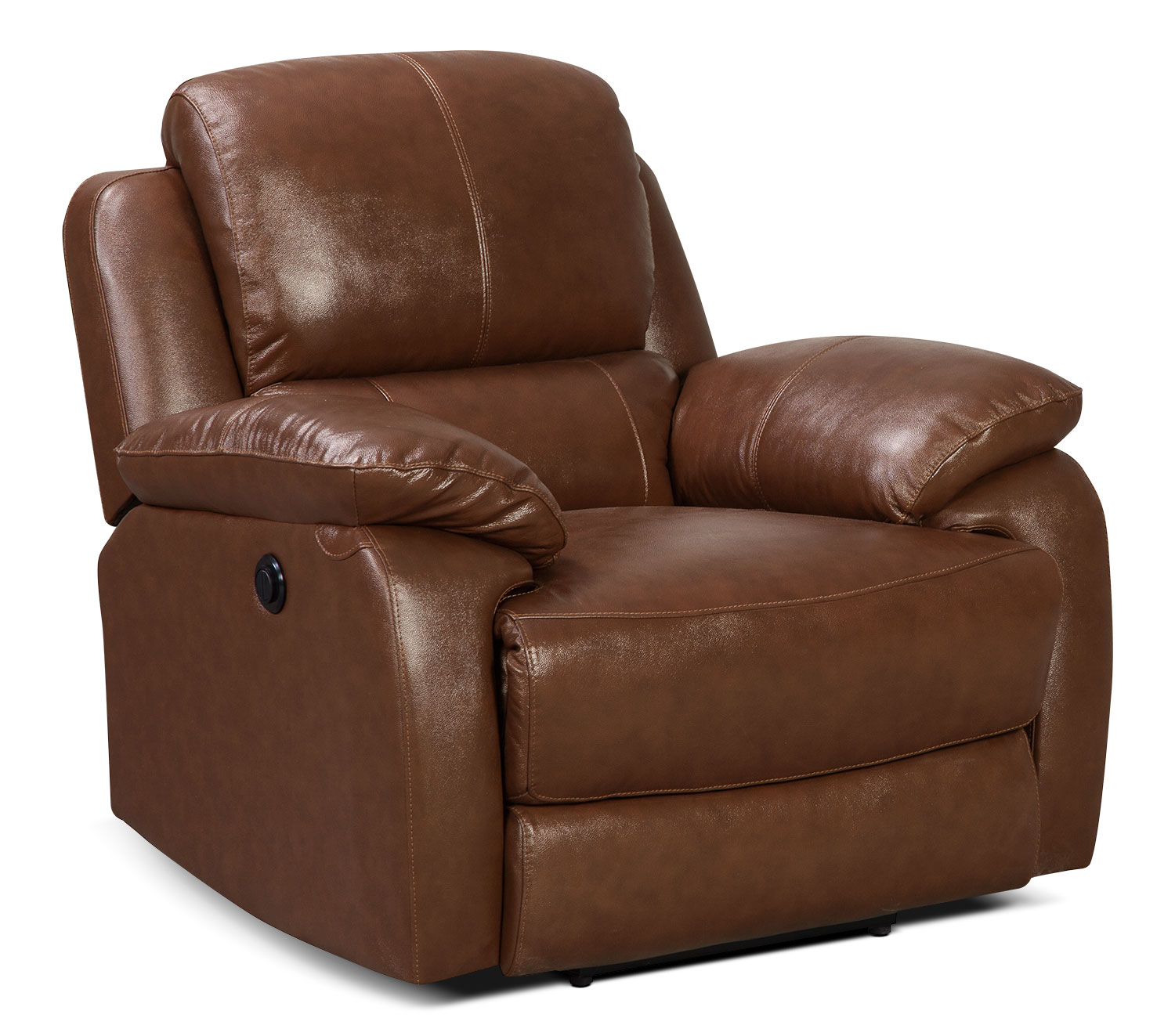 Living Room Furniture - Cairo Genuine Leather Power Reclining Chair – Brown