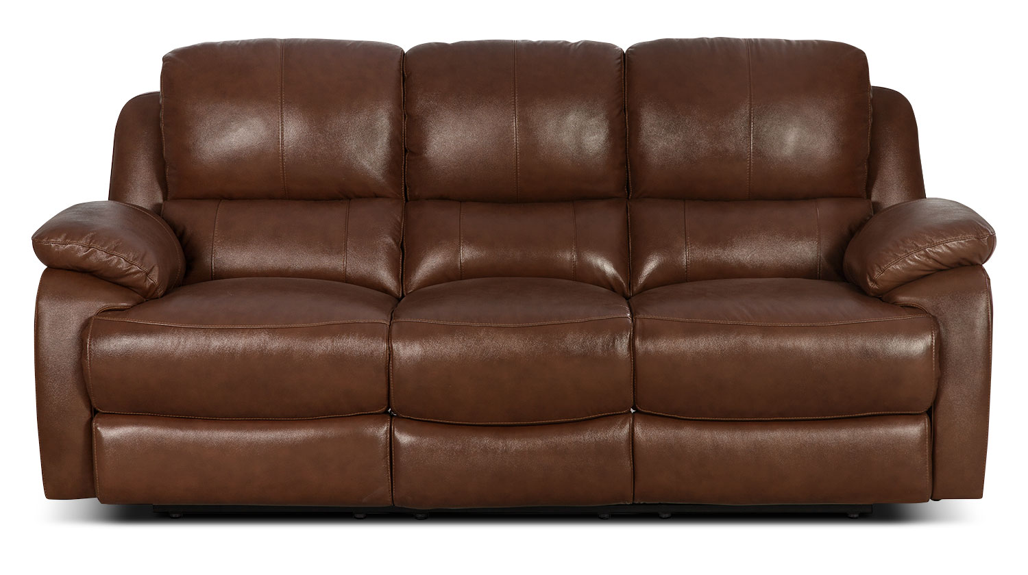 Living Room Furniture - Cairo Genuine Leather Power Reclining Sofa – Brown
