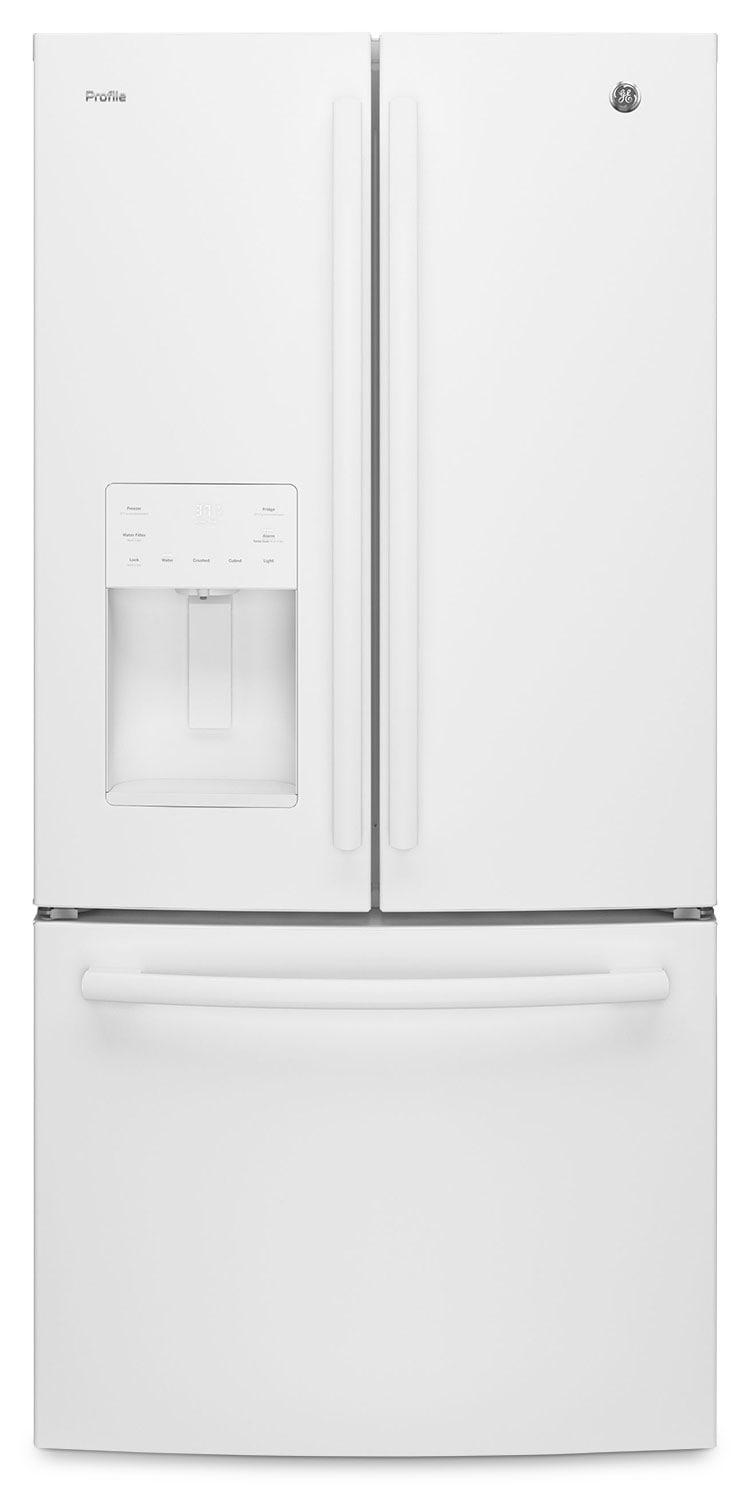GE 23.8 Cu. Ft. French-Door Refrigerator – PFE24JGKWW