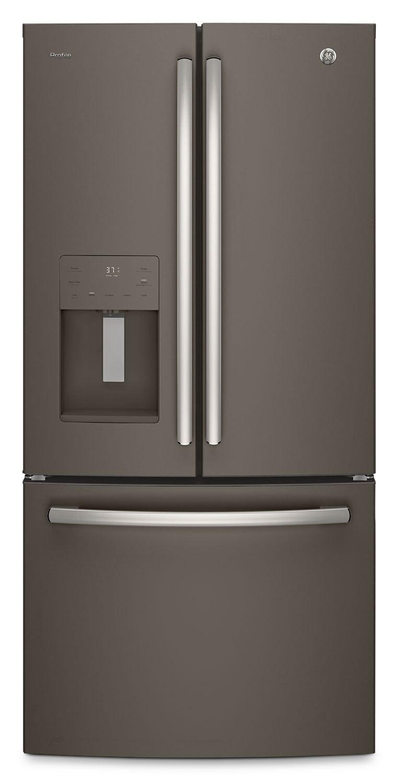 Réfrigérateurs et Congélateurs - Réfrigérateur GE de 23,8 pi³ à portes françaises – PFE24JMKES
