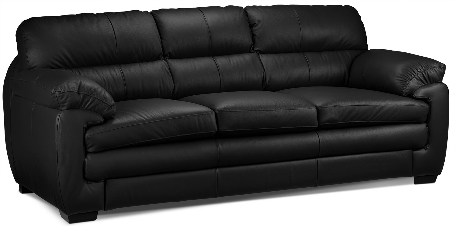 Living Room Furniture - Cambria Sofa - Black
