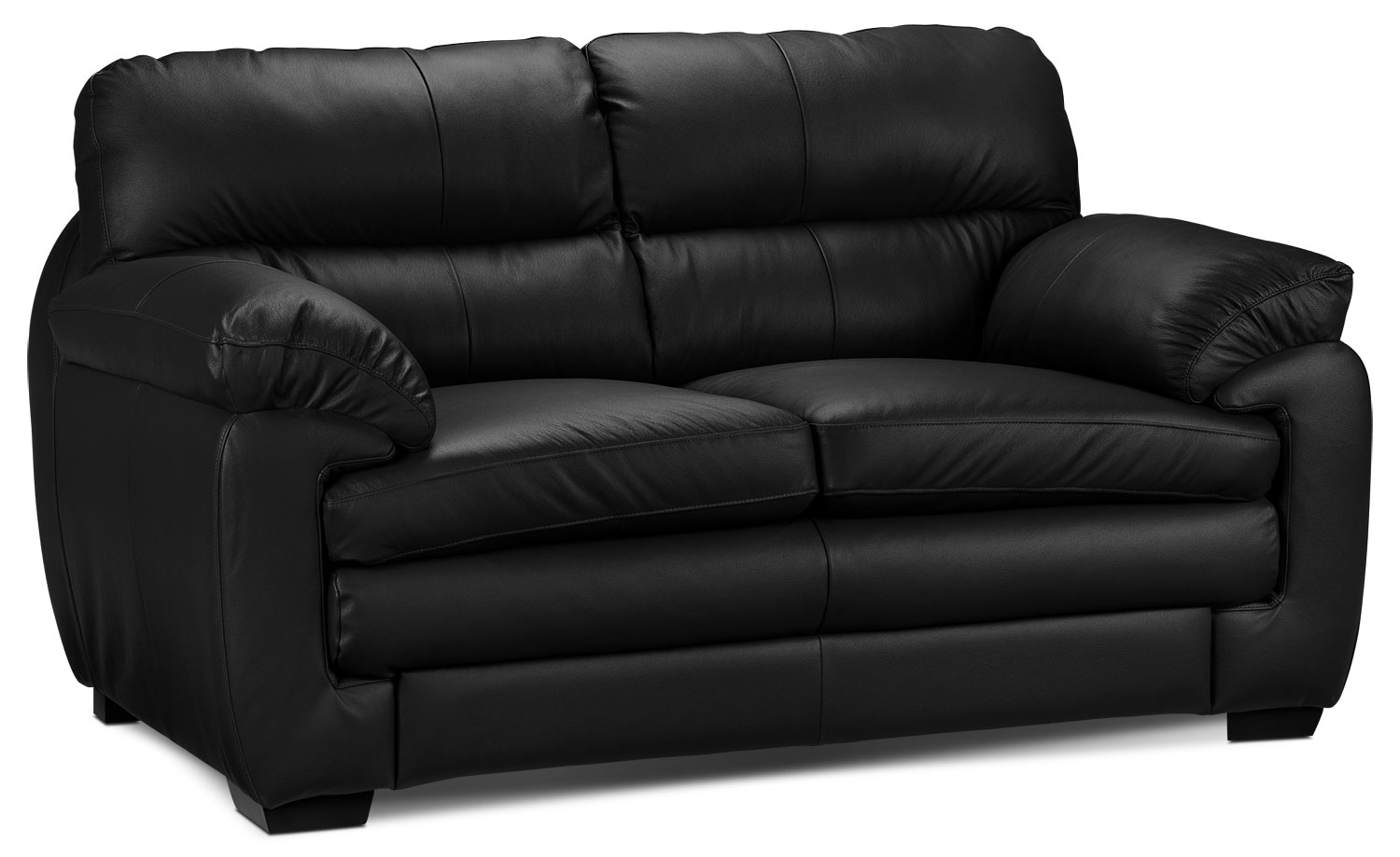 Living Room Furniture - Cambria Loveseat - Black