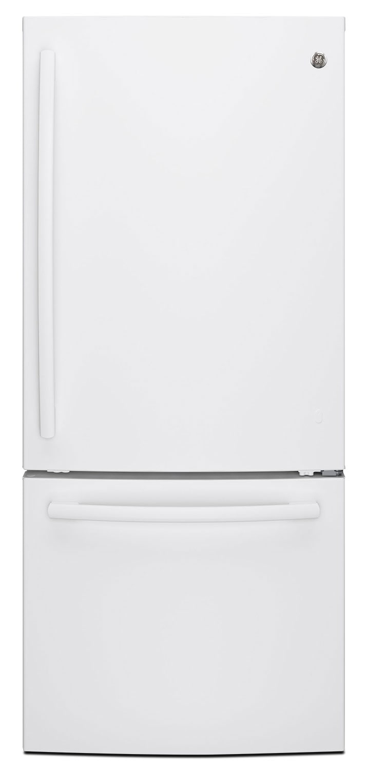 GE 20.9 Cu. Ft. Bottom-Freezer Refrigerator – GDE21DGKWW
