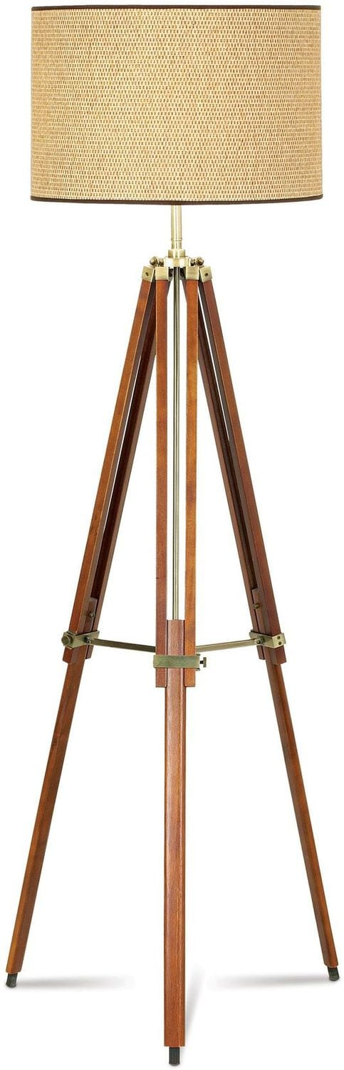 Surveyor Adjustable Wood Table Lamp