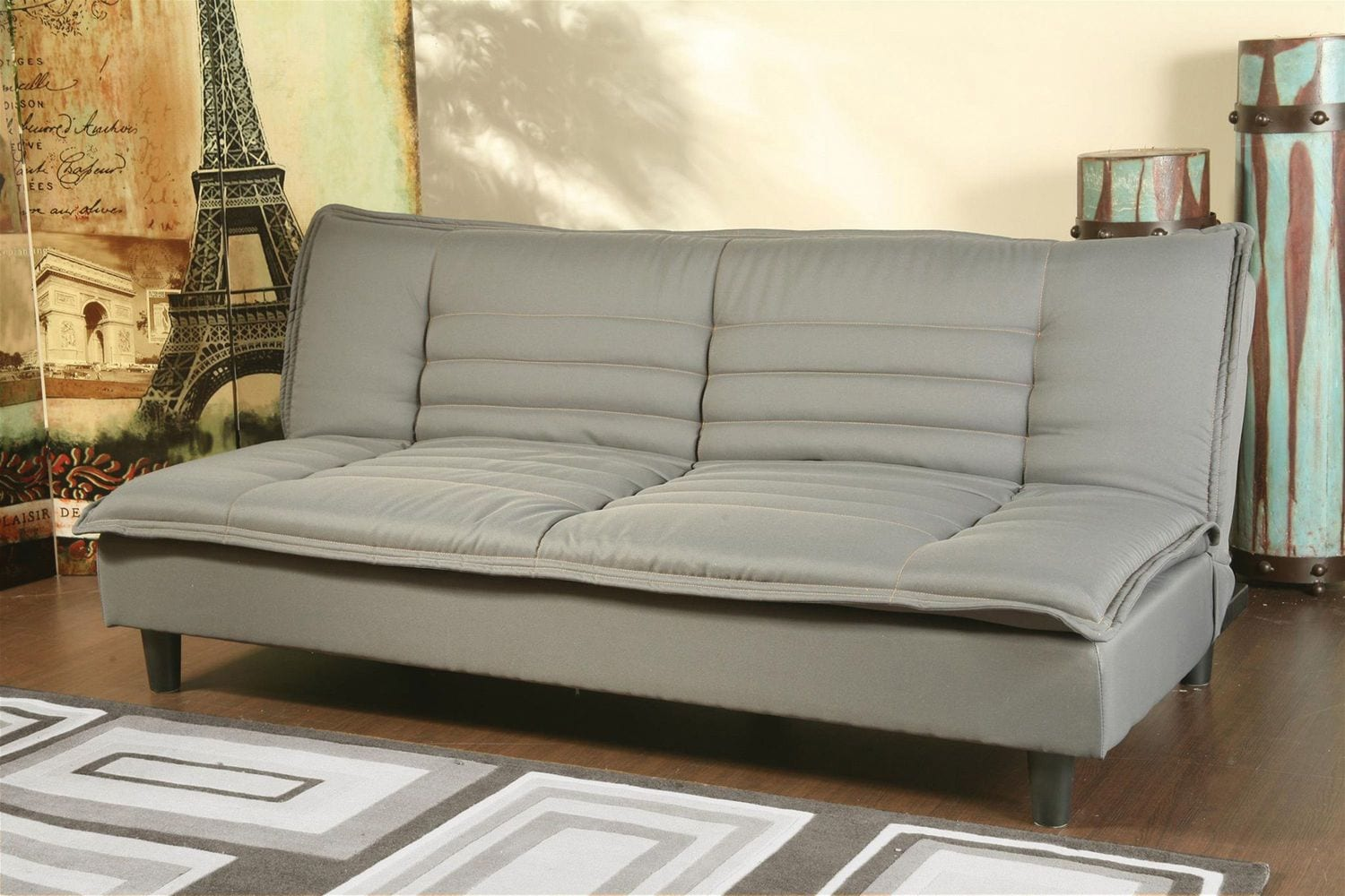 Living room furniture lombard convertible sofa gray
