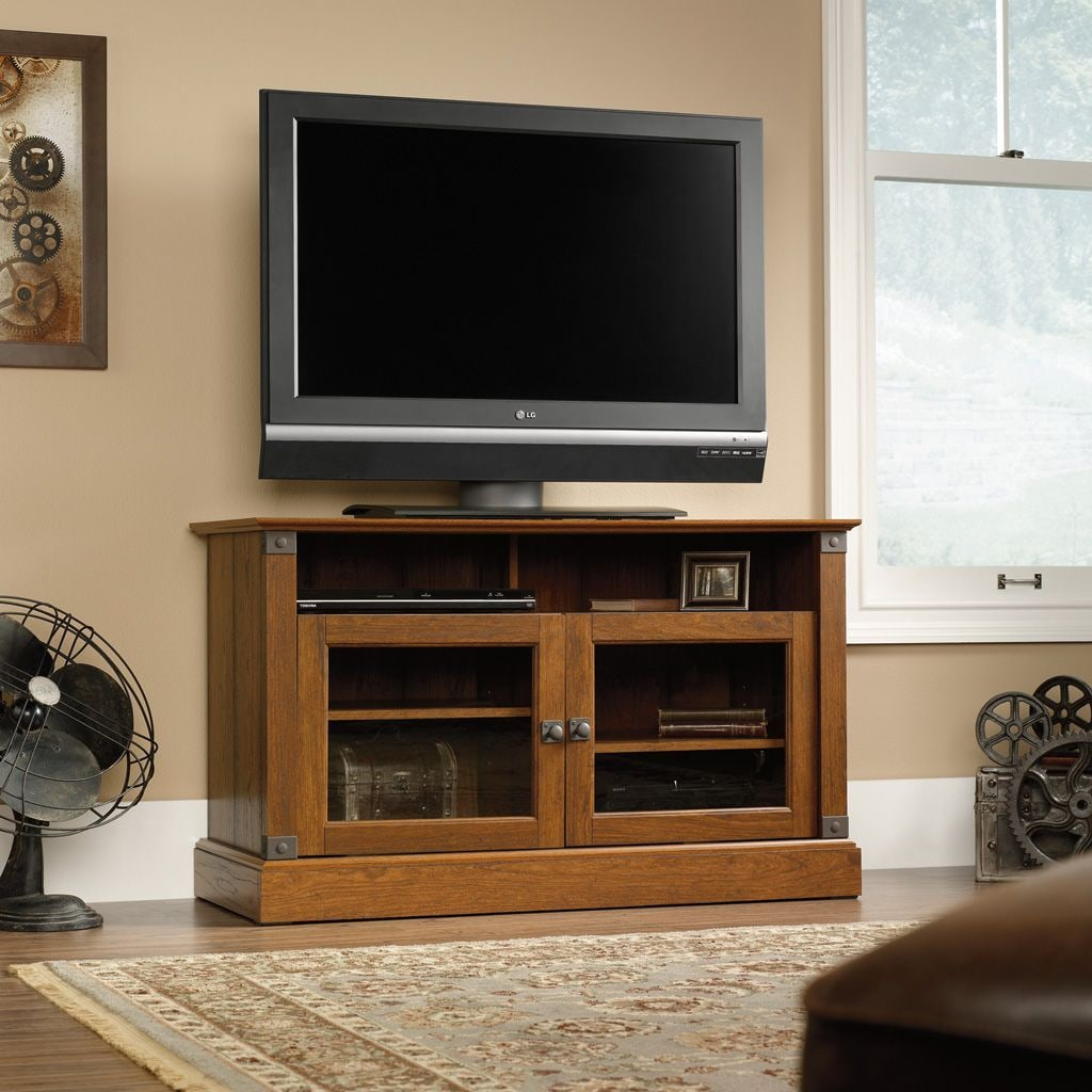 """Entertainment Furniture - Carson Forge 43"""" TV Stand - Cherry"""