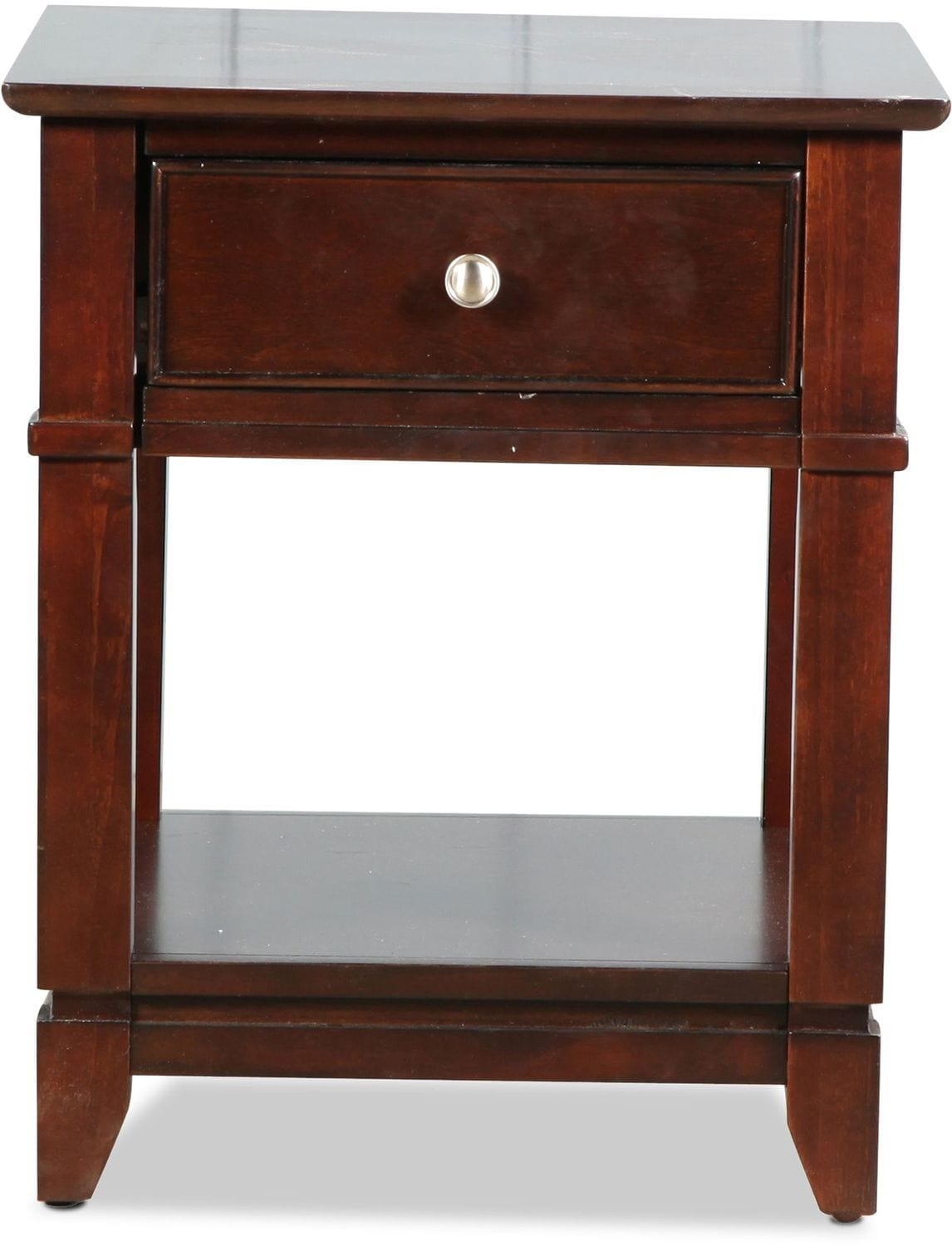 Accent and Occasional Furniture - Ansley End Table - Warm Ebony
