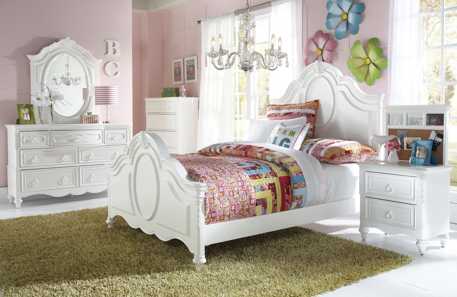 Ava 4-Piece Twin Bedroom Set - White