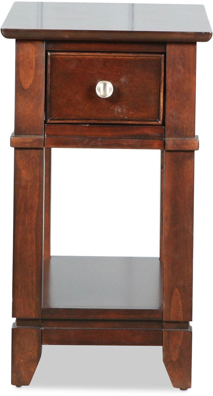 Ansley Chairside Table - Warm Ebony