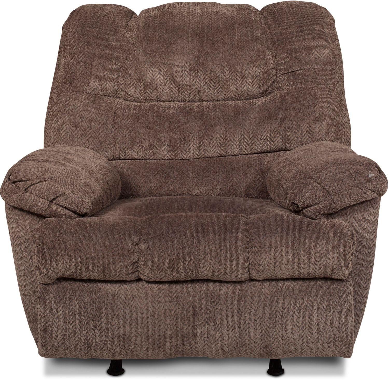 Living Room Furniture - Callaway Rocker Recliner - Pewter