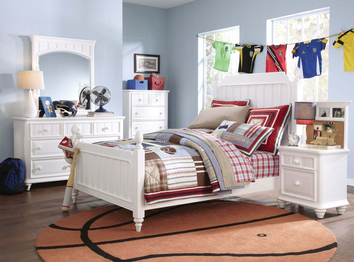laney 4 piece twin bedroom set white levin furniture