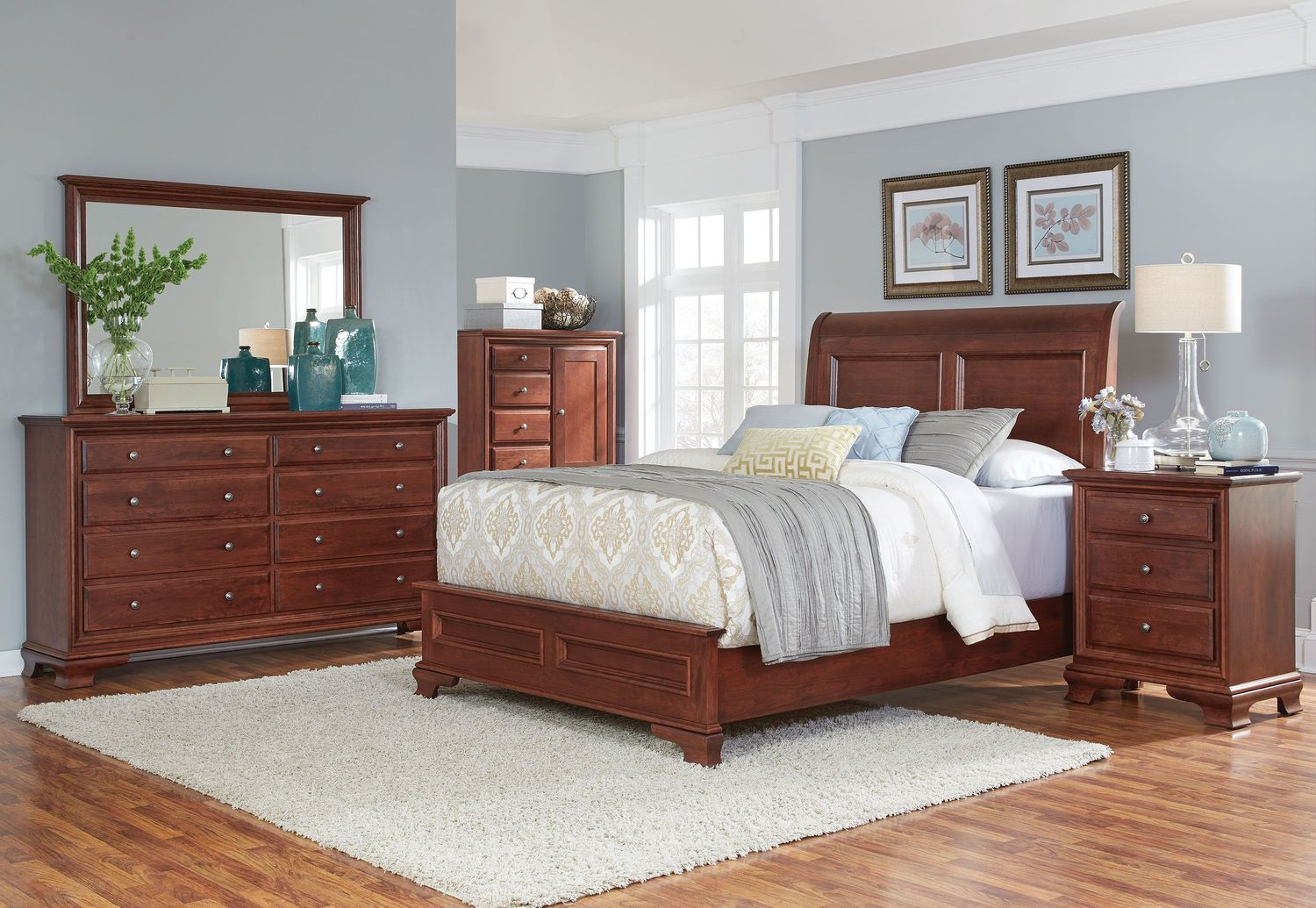Amish Classic 4 Piece Queen Bedroom - Warm Brown