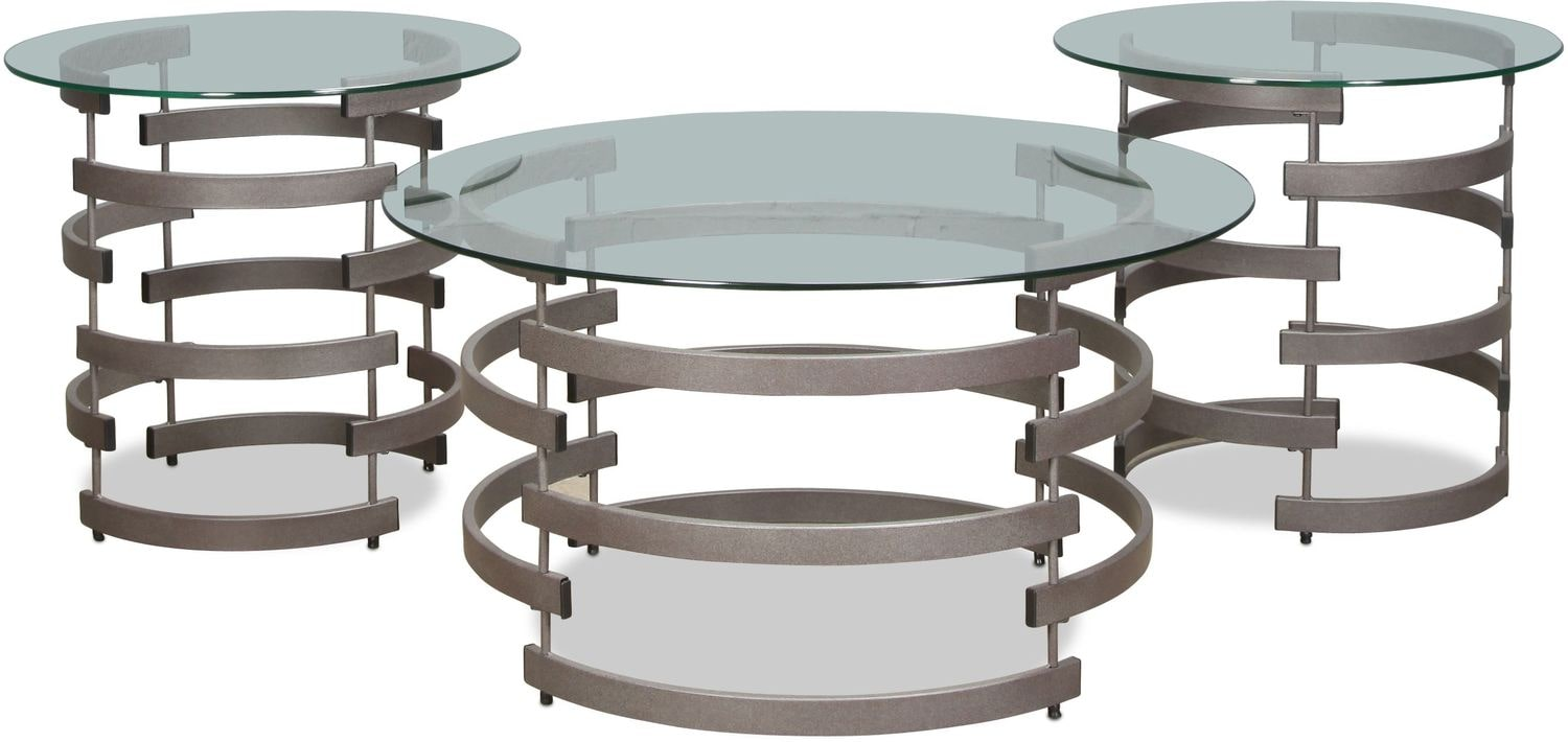 Accent and Occasional Furniture - Vogue Coffee Table and 2 End Tables