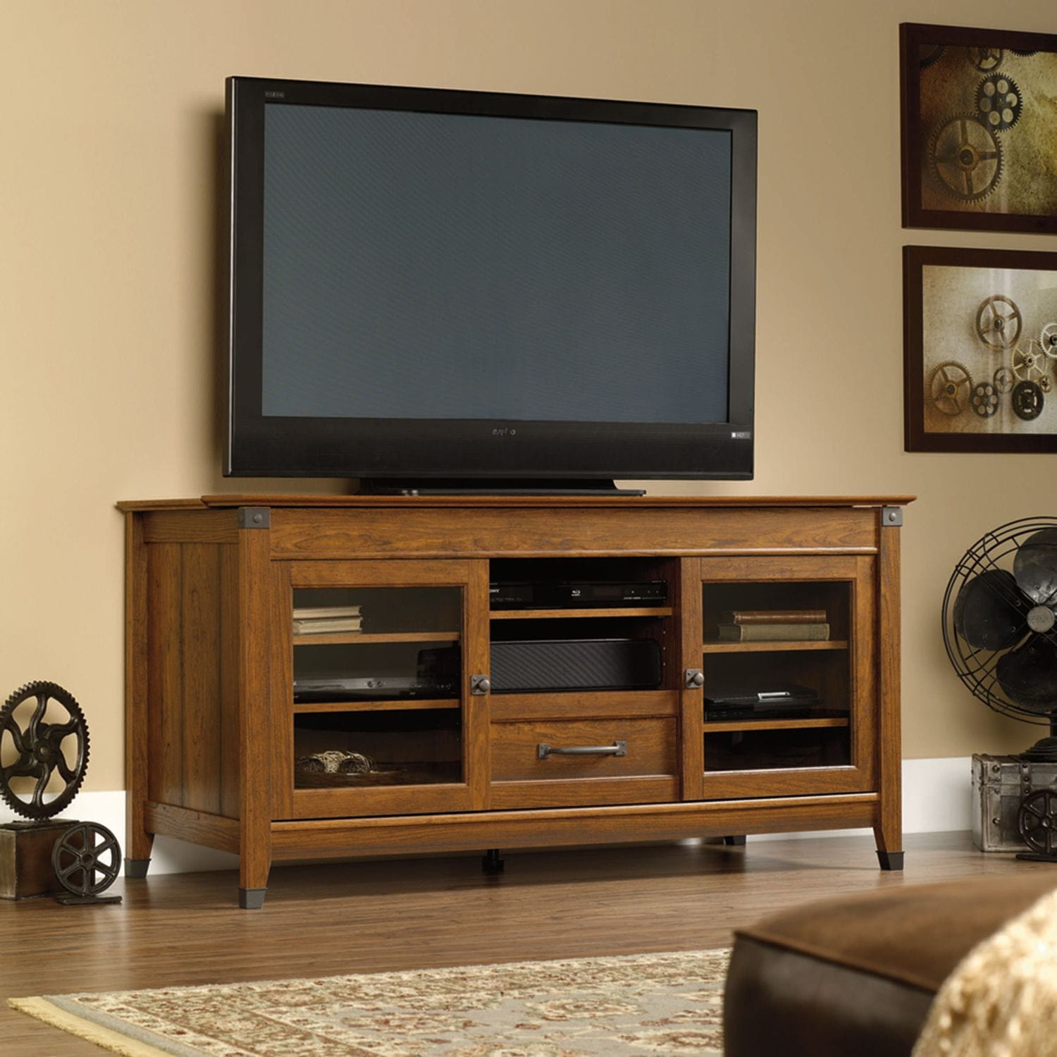 "Carson Forge 61"" TV Stand - Cherry"