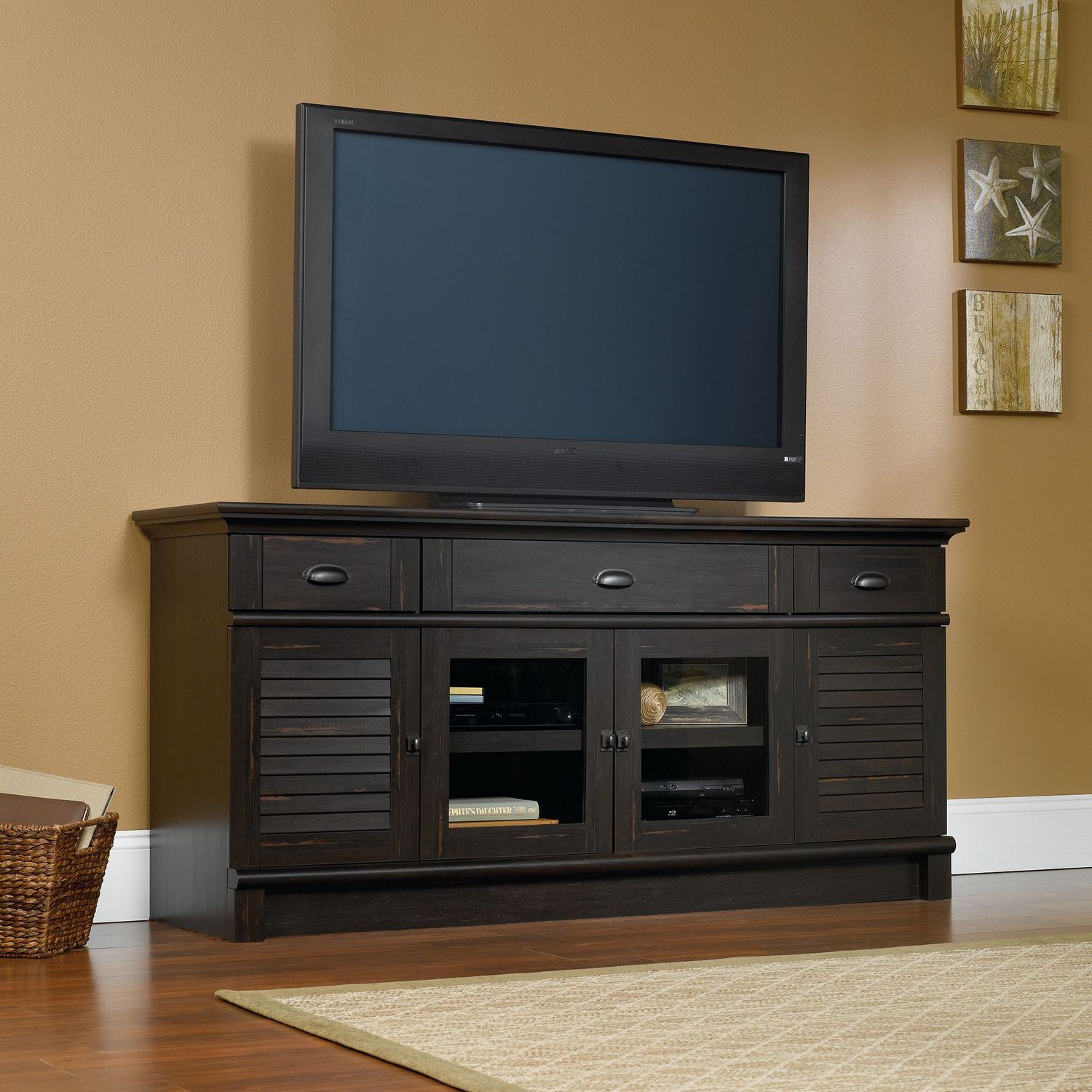 "Harbor View 71"" TV Stand - Antique Brown"