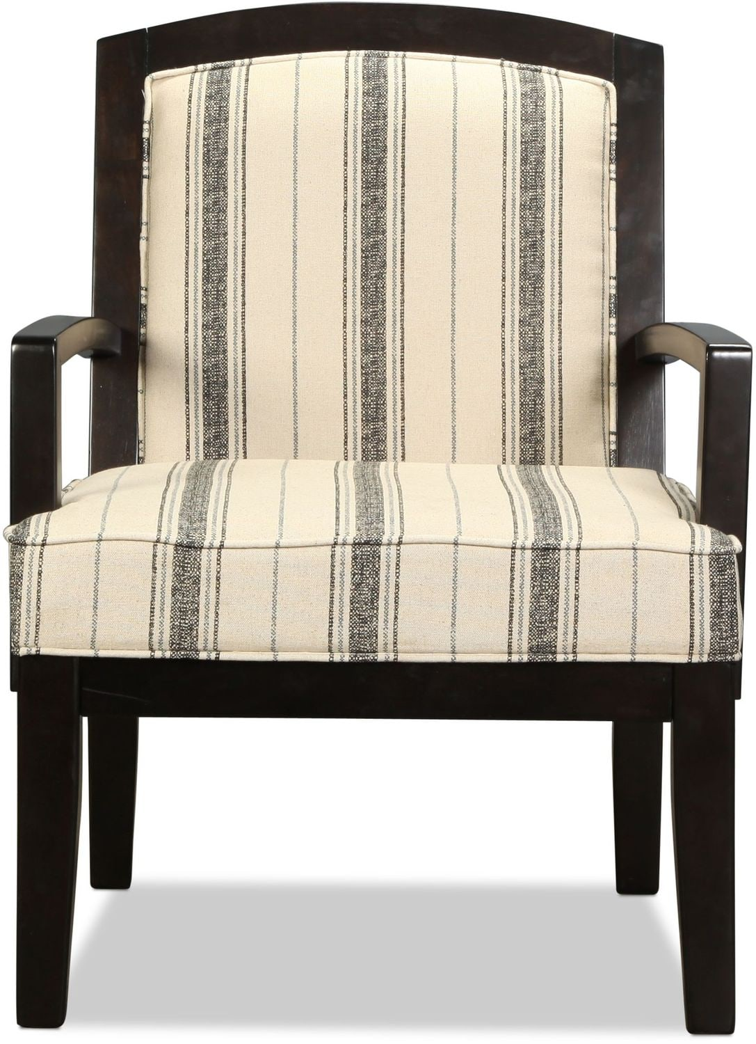 Serena accent chair striped levin furniture for Striped chairs living room