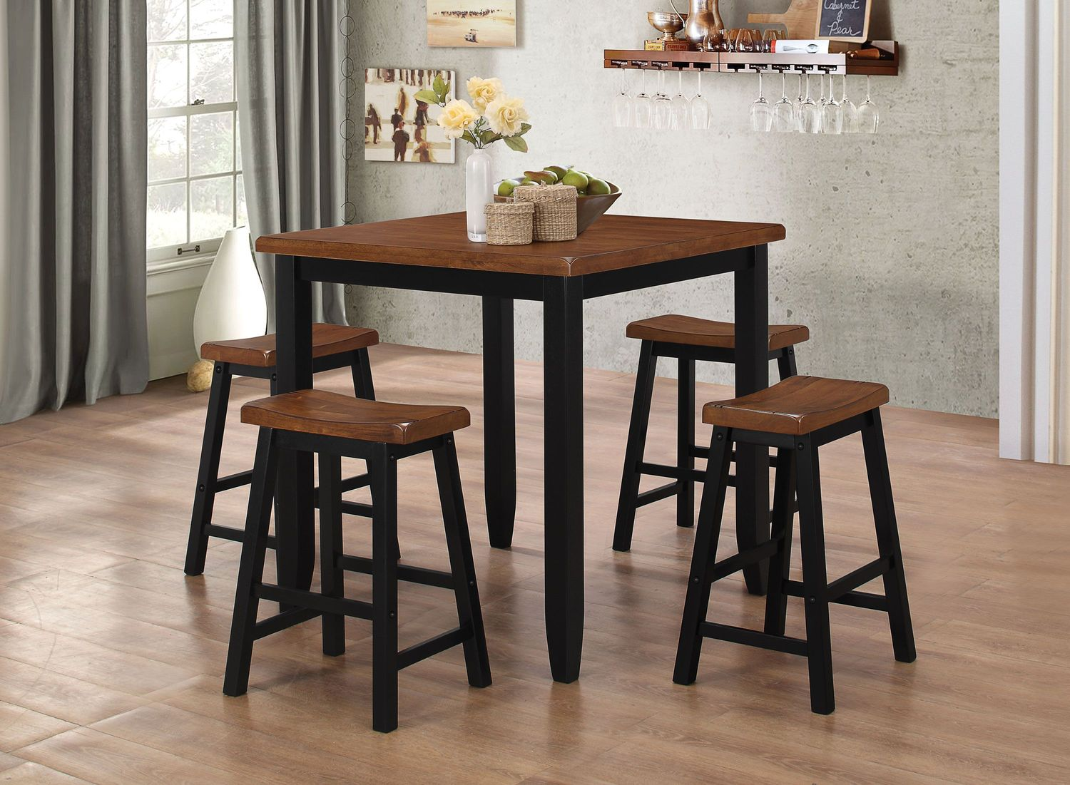 Emmerdale Counter Height Table And 4 Stools Levin Furniture