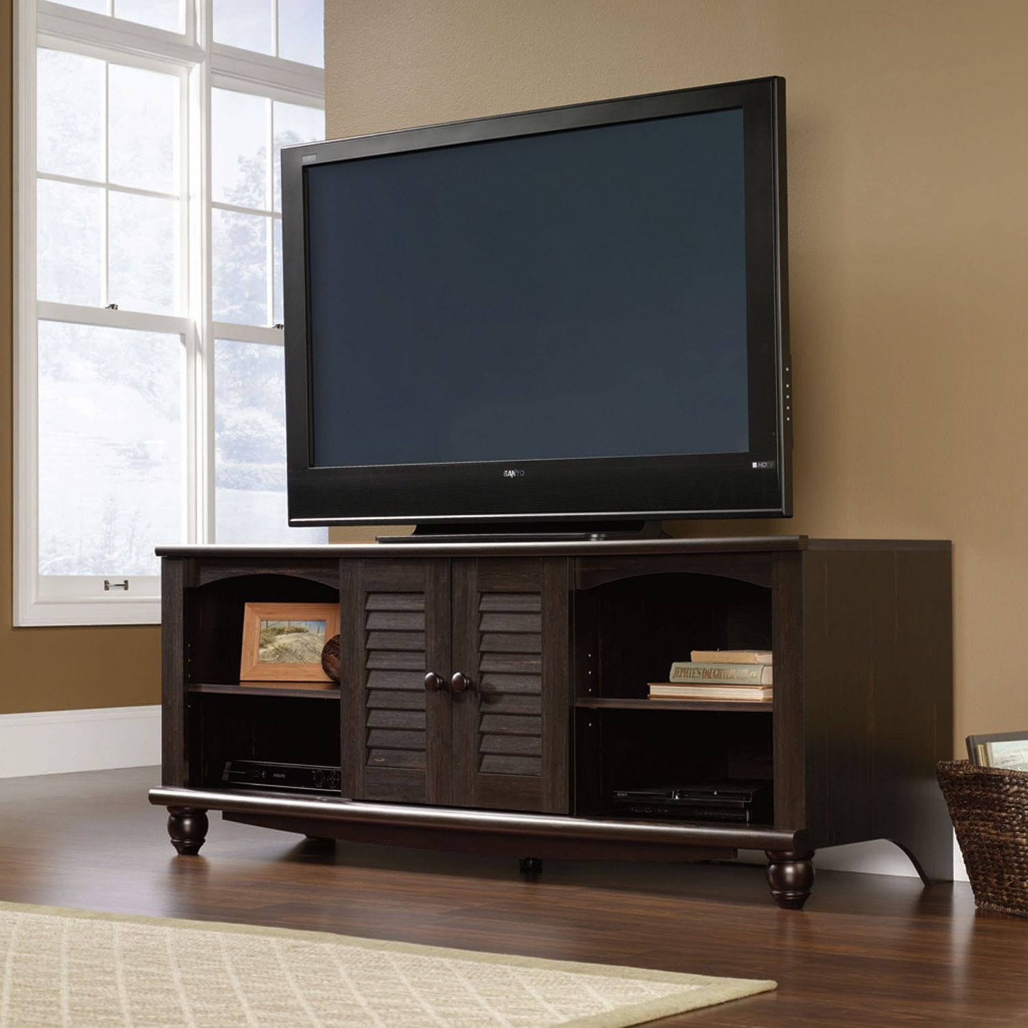 "Harbor View 63"" TV Stand - Antique Brown"