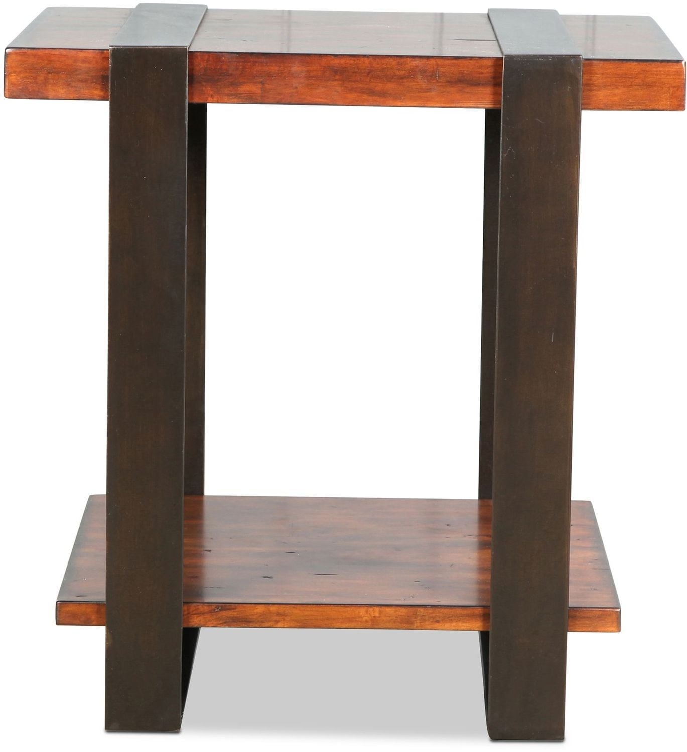 Madan End Table - Distressed Whiskey
