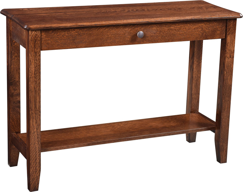 Bunker Hill Sofa Table - Rustic Oak