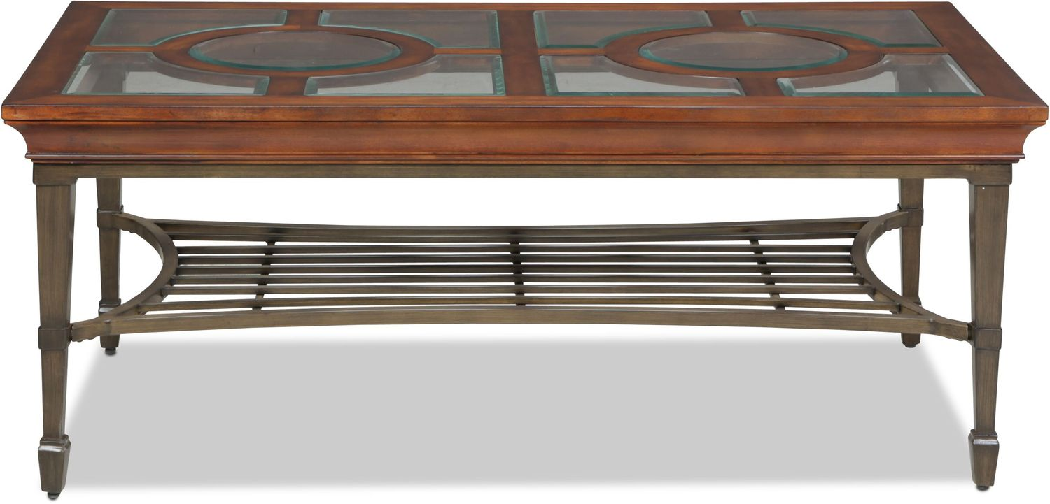 Rivergrove Coffee Table - Burnished Cherry