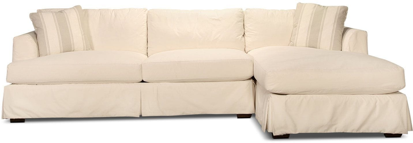 Avalon 2-Piece Right-Facing Sectional - Off-White