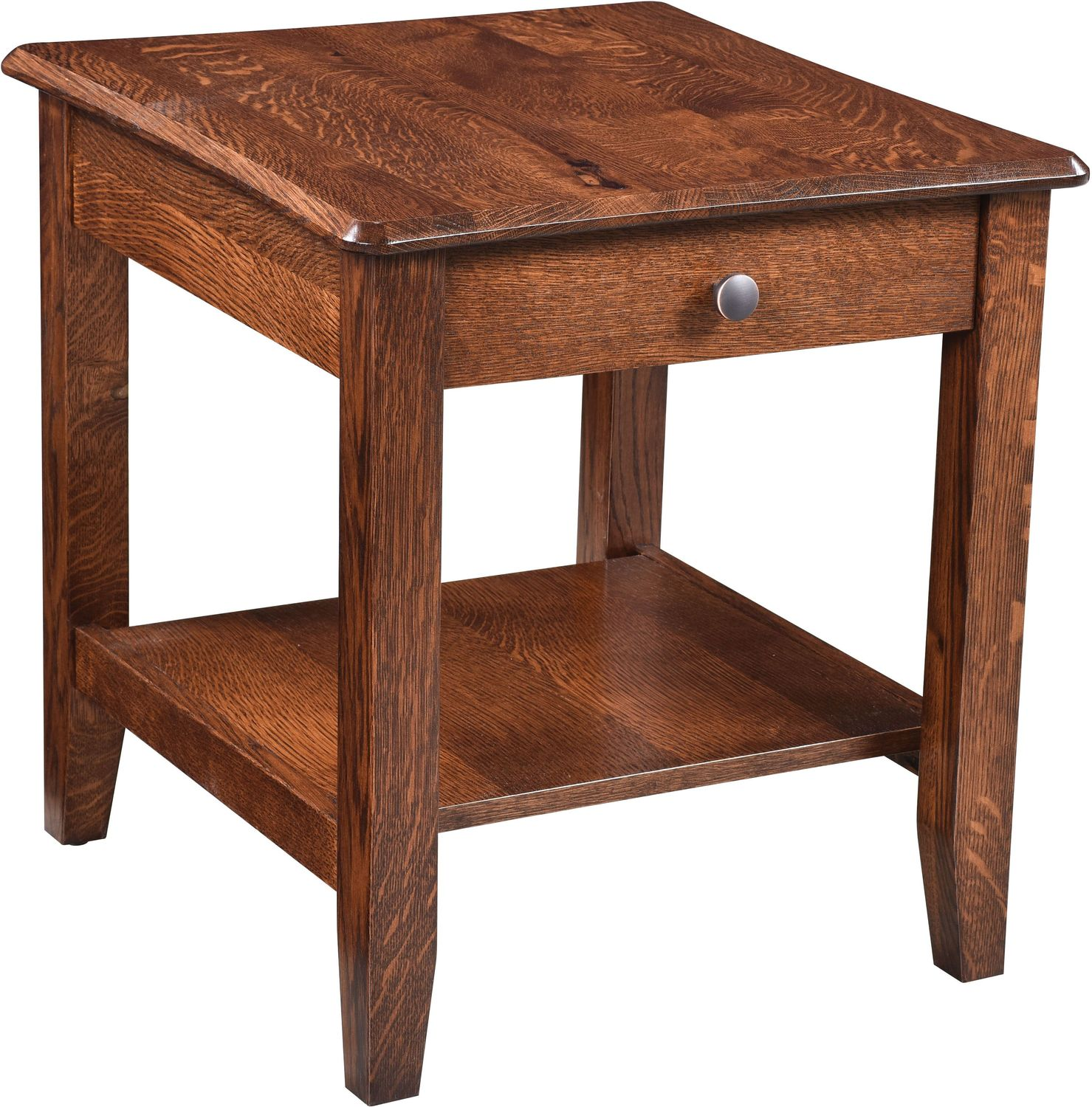 Bunker Hill End Table - Rustic Oak