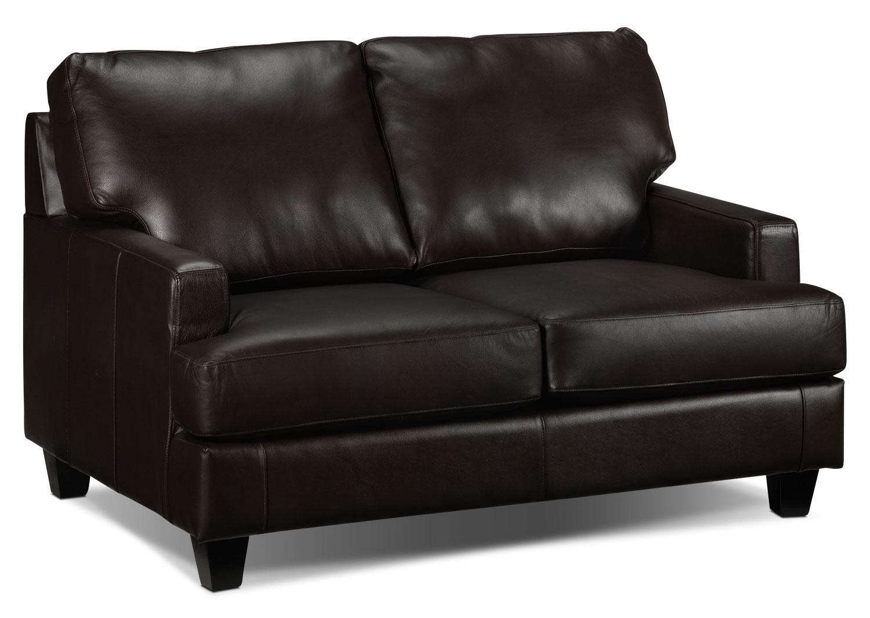 Living Room Furniture - Janie Loveseat - Coffee
