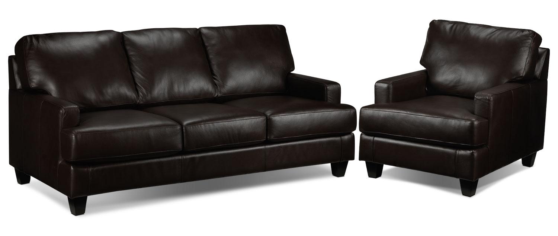 Janie Sofa and Chair Set - Coffee