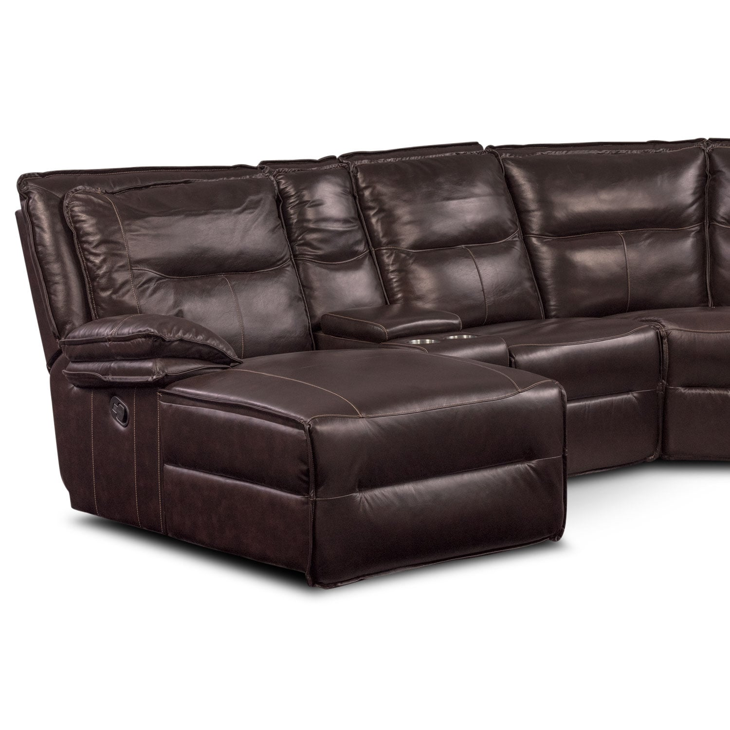 Nikki 6 Piece Power Reclining Sectional With 1 Recliner
