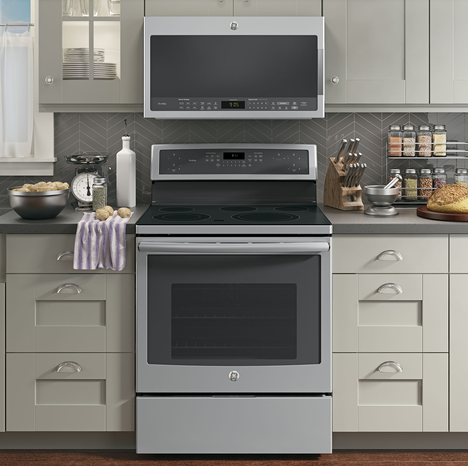 ge 2 1 cu ft over the range microwave pvm2188sjc the brick. Black Bedroom Furniture Sets. Home Design Ideas