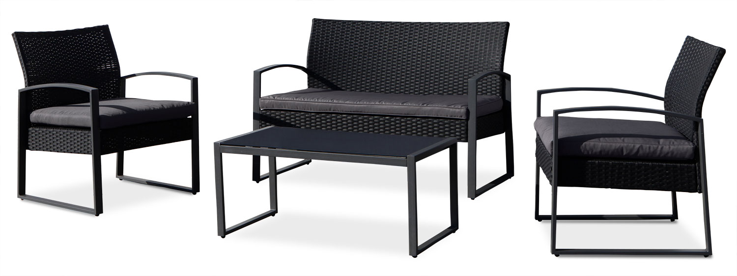Outdoor Furniture - Victoria 4-Piece Conversation Package