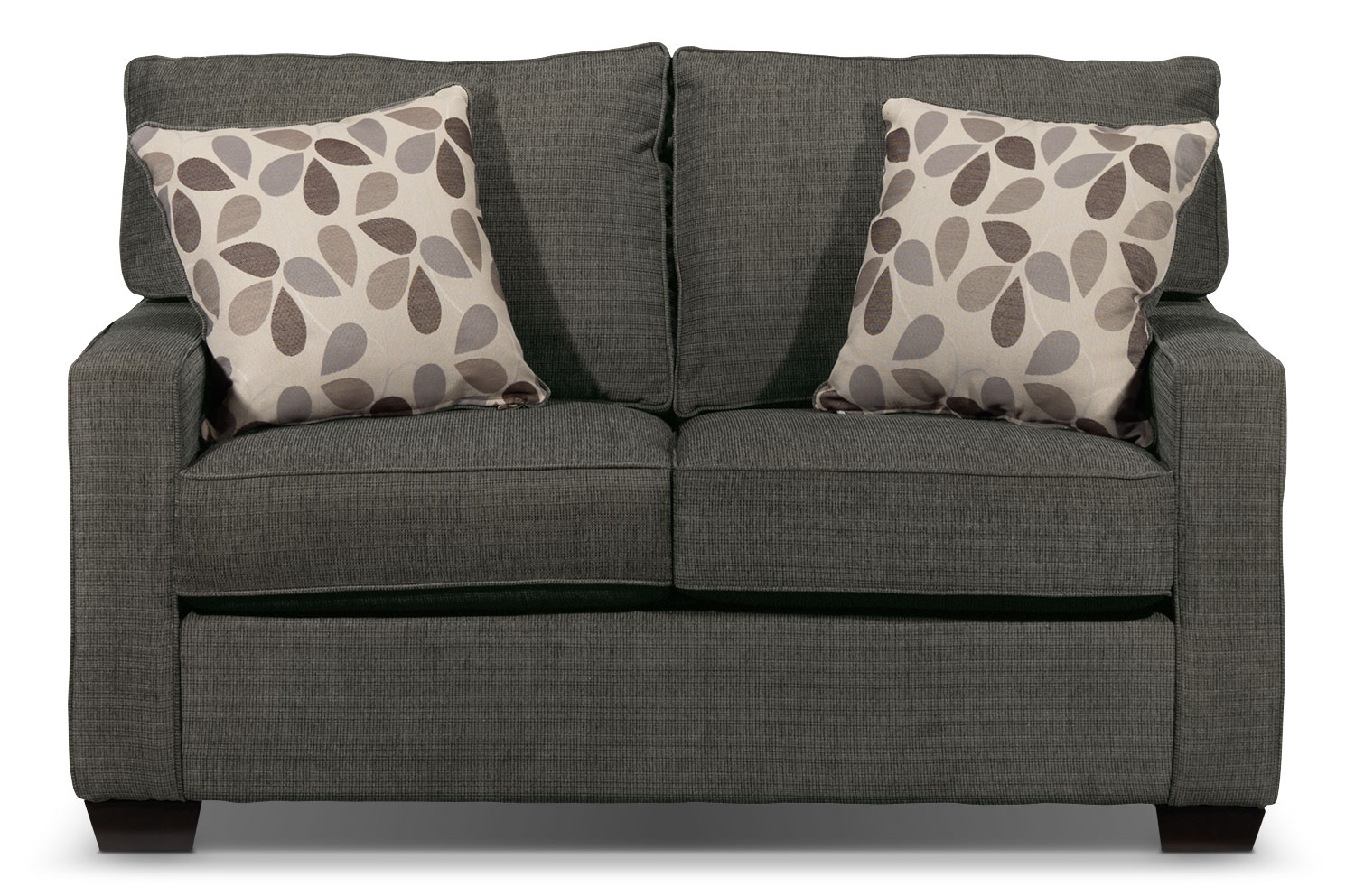 Living Room Furniture - Perkin Loveseat - Graphite