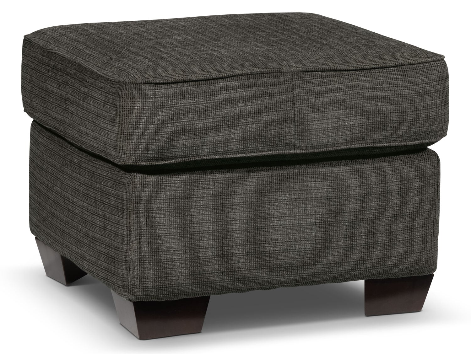 Living Room Furniture - Perkin Ottoman - Graphite
