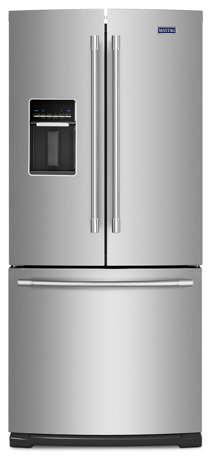 Refrigerators and Freezers - Maytag Fingerprint-Resistant Stainless Steel French-Door Refrigerator (20 Cu. Ft.) - MFW2055FRZ