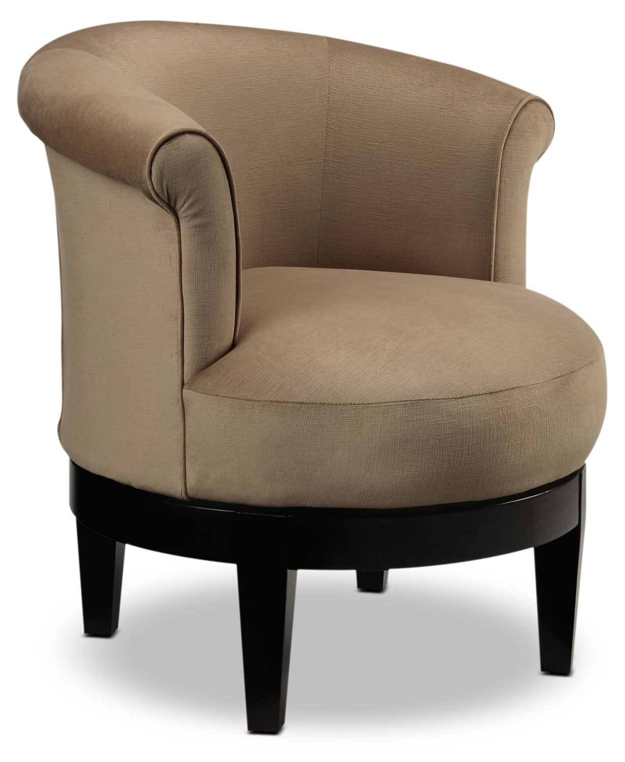 Living Room Furniture - Attica Swivel Accent Chair - Coffee