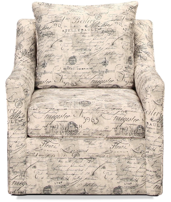 Bella Vista Swivel Chair - Postmark Script