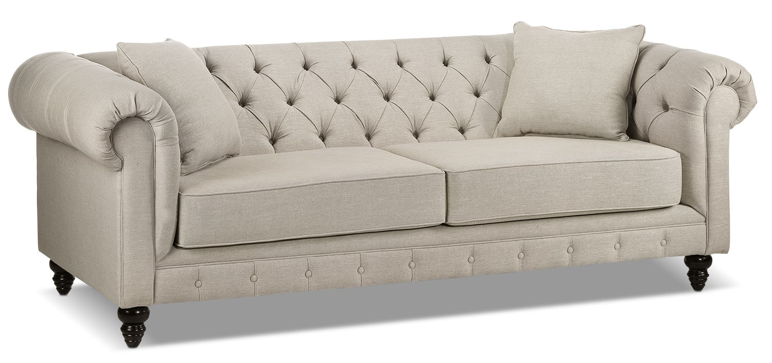 Living Room Furniture - Nubia Sofa - Stone