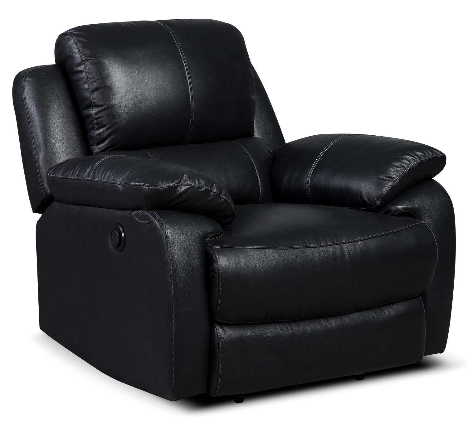 Living Room Furniture - Cairo Genuine Leather Power Reclining Chair – Black