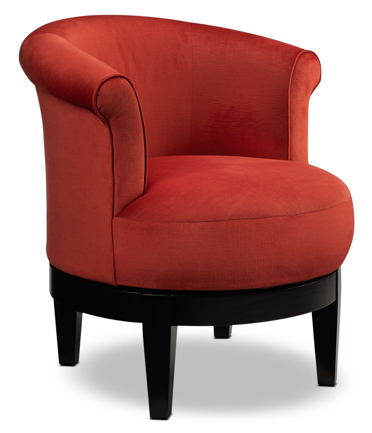 Kalosa Swivel Accent Chair: Attica Swivel Accent Chair - Red